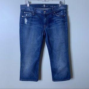 7 FOR ALL MANKIND Cropped Josefina Boyfriend Jeans
